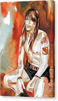 Axl Rose Portrait.4 Canvas Print