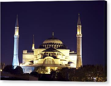 Byzantine Canvas Print - Aya Sophia In Istanbul Turkey by Raimond Klavins