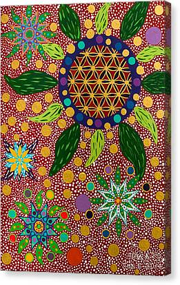 Ayahuasca Vision - The Opening Of The Heart Canvas Print