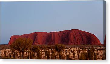 Ayers Rock At Dusk, Northern Territory Canvas Print by Panoramic Images
