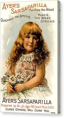 Ayer�s Sarsaparilla 1890s Usa Trade Canvas Print by The Advertising Archives