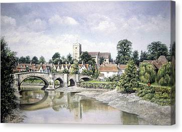 Aylesford Bridge Canvas Print by Rosemary Colyer