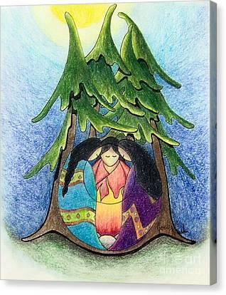 Ayllu Sisterhood  Canvas Print by Joey Nash