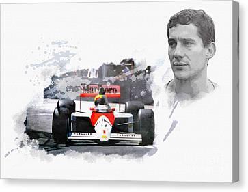 Ayrton Senna Genius Canvas Print