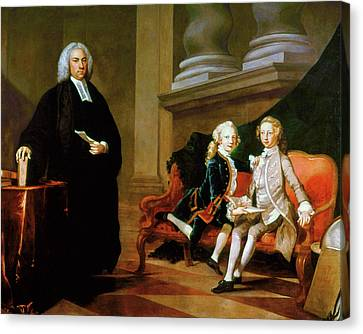 Ayscough And Pupils, C1749 Canvas Print