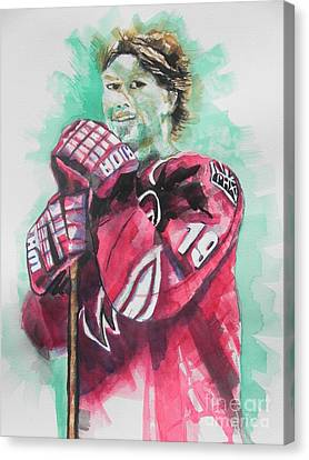 Az Coyotes ...hockey Player Shane Doan Canvas Print by Chrisann Ellis