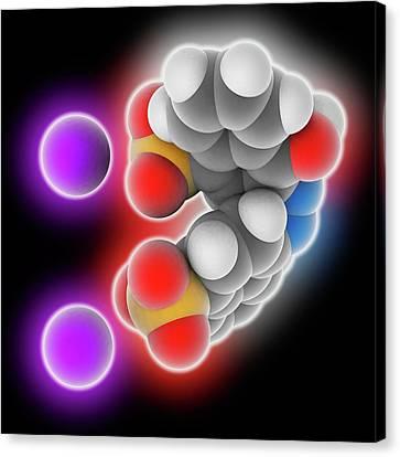 Azorubine Food Dye Molecule Canvas Print by Laguna Design