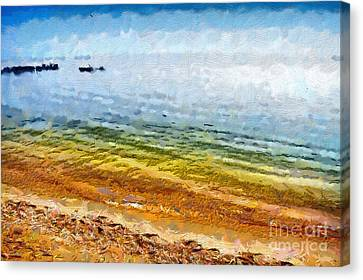 Azov Sea Painting Canvas Print by Magomed Magomedagaev