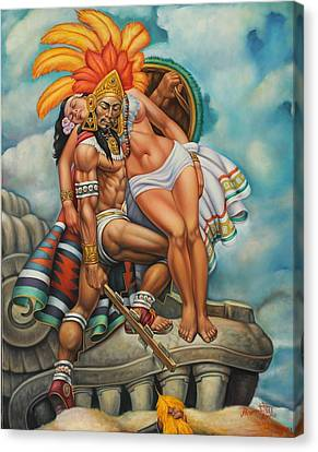 Aztec Warrior Canvas Prints Fine Art America