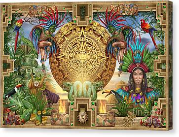Aztec Mayhem Montage Canvas Print by Ciro Marchetti