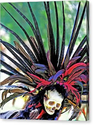 Aztecan Ceremony 15 Canvas Print