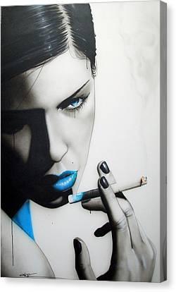 Portrait - ' Azure Addiction ' Canvas Print