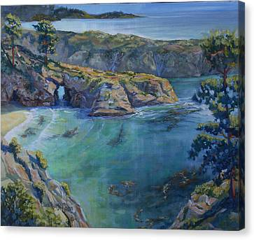 Azure Cove Canvas Print by Heather Coen