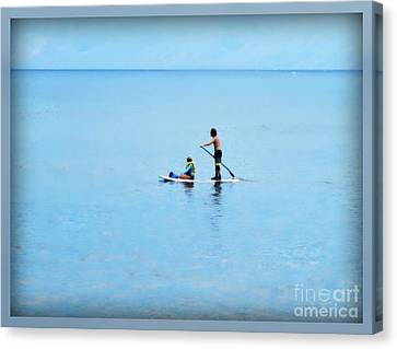 Canvas Print featuring the photograph Azure by Leslie Hunziker