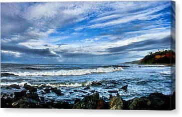 Canvas Print featuring the photograph Azure Seas by Joseph Hollingsworth