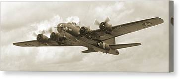 B-17 Flying Fortress Canvas Print by Mike McGlothlen