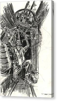 B-17 Radio Gunner 1942 Canvas Print