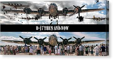 B-17 Then And Now Canvas Print