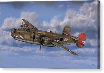 Dale Jackson Canvas Print - B-24 Liberator by Dale Jackson
