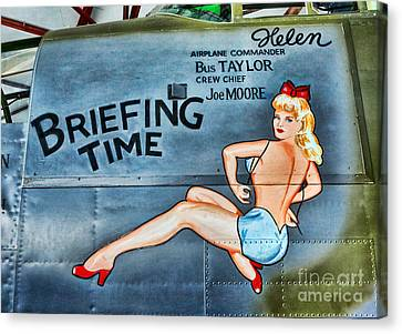 B-25 Bomber Pin Up Girl Canvas Print by Lee Dos Santos
