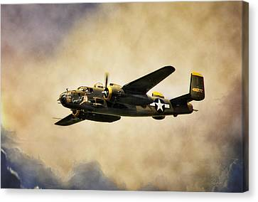 B-25 Georgie's Gal Canvas Print by Peter Chilelli