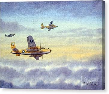 B-25 Mitchell Canvas Print by Bill Holkham