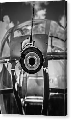 B 25 Mitchell Nose Gun Canvas Print by Puget  Exposure