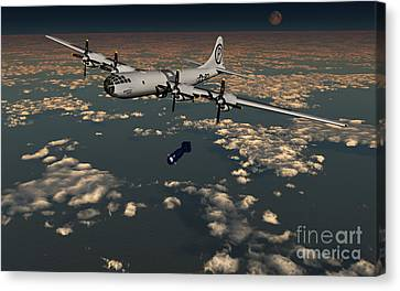 B-29 Superfortress Dropping Little Boy Canvas Print