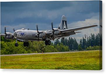 B-29 Superfortress Flair  Canvas Print by Puget  Exposure