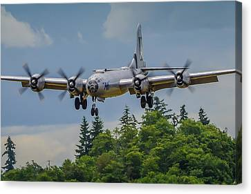B-29 Superfortress Landing Canvas Print by Puget  Exposure
