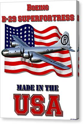 B-29 Superfortress Made In The Usa Canvas Print