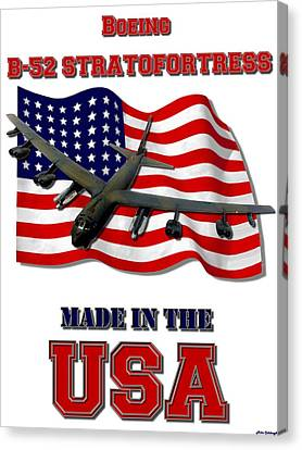 B-52 Stratofortress Made In The Usa Canvas Print