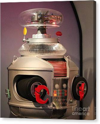 Canvas Print featuring the photograph B-9 Robot From Lost In Space by Cynthia Snyder