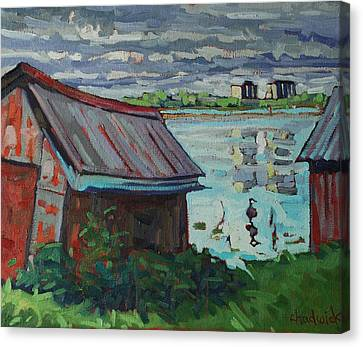 B And B - Barriefield Boathouse Canvas Print