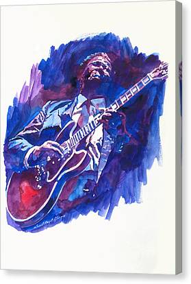 B. B. King Blue Canvas Print by David Lloyd Glover