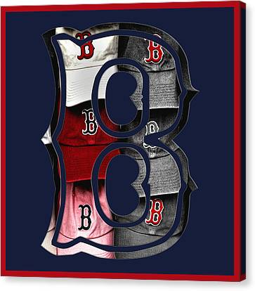 B For Bosox - Boston Red Sox Canvas Print by Joann Vitali