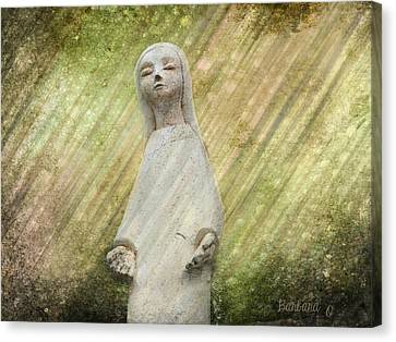 B. Grateful Canvas Print by Barbara Orenya