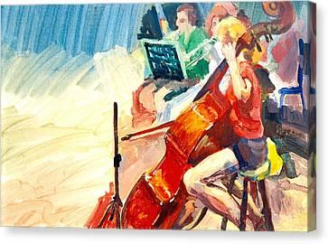 B03. The Cellist Canvas Print