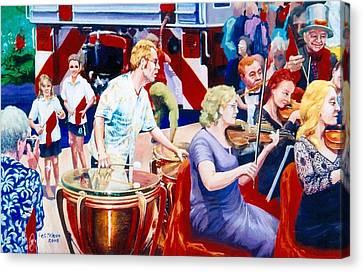 B05. The Drummer Canvas Print
