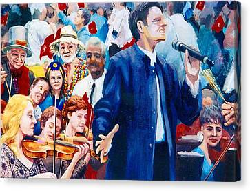 B06. The Singer Canvas Print