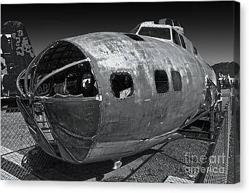 B17 Derelict Airplane - 02 Canvas Print by Gregory Dyer