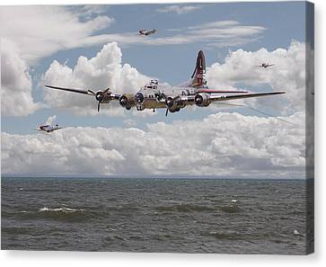 B17 The Hardest Mile Canvas Print by Pat Speirs