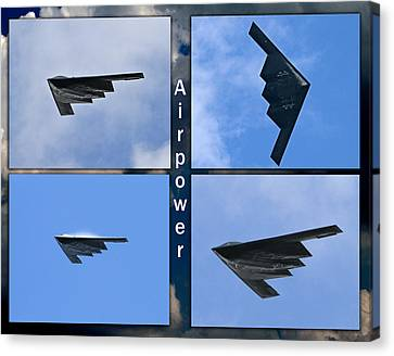 Canvas Print featuring the photograph B2 Stealth Bomber by John Freidenberg