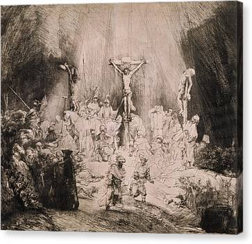 Religious Canvas Print - The Three Crosses, Circa 1660 by Rembrandt Harmensz van Rijn