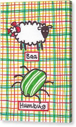 Baa Humbug Canvas Print by Julie  Hutchinson