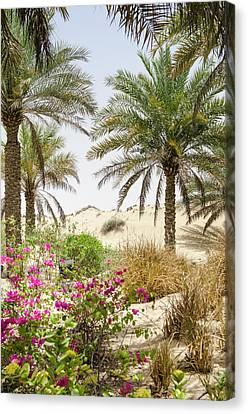 Bab Al Shams Desert Resort And Spa Canvas Print by Michael Defreitas