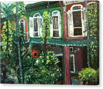 Canvas Print featuring the painting Baba Nonya House by Belinda Low