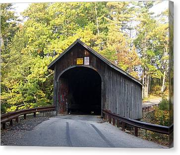 Babbs Covered Bridge Canvas Print by Catherine Gagne