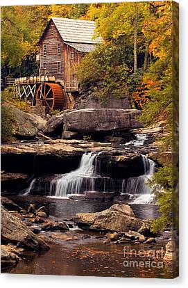Canvas Print featuring the photograph Babcock Grist Mill And Falls by Jerry Fornarotto