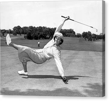 Babe Didrikson Zaharias Canvas Print by Underwood Archives